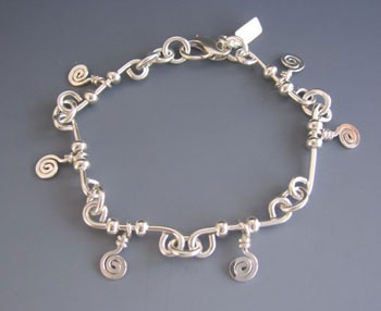 Barb Wire Bracelet with Spirals