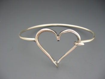 Heart Hook and Loop Bracelet