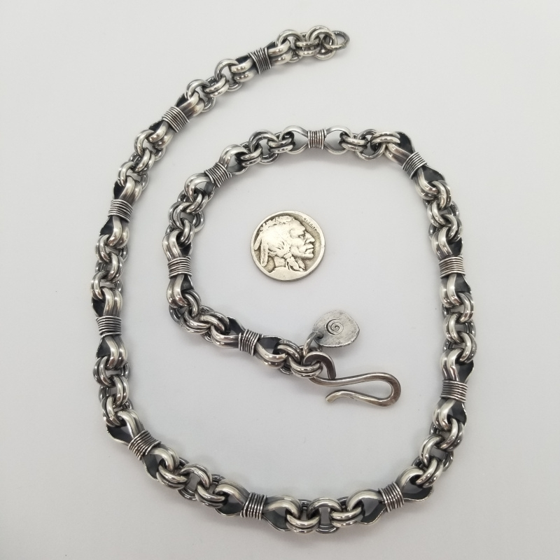 Bowknot double cable chain