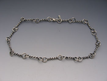 Oxidized Large Twisted Link Necklace