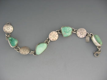 Turquoise and Concho bracelet